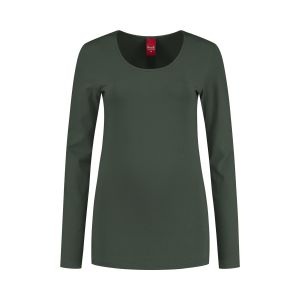 Only M - Basic ronde hals top khaki