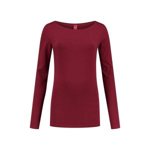 Only M - Basic boothals top donkerrood