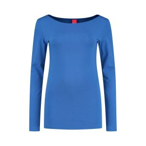Only M - Basic boothals top blauw