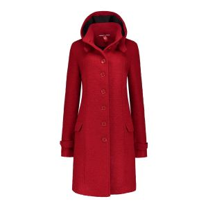 Only M - Winterjas Wol Rood