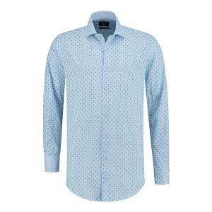 Corrino overhemd - Paisley lichtblauw