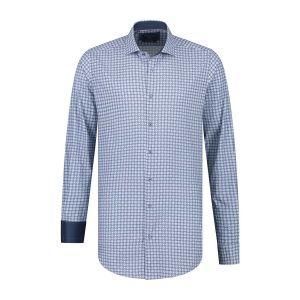 Corrino overhemd - Patroon donkerblauw