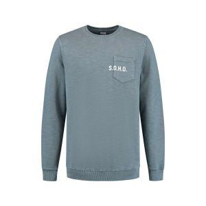 SOHO Sweater - Pocket Blue Gray
