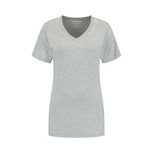 SOHO V-hals Shirt - Future Silver Grey